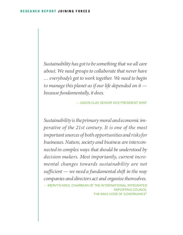 Collaboration and Leadership for Sustainability