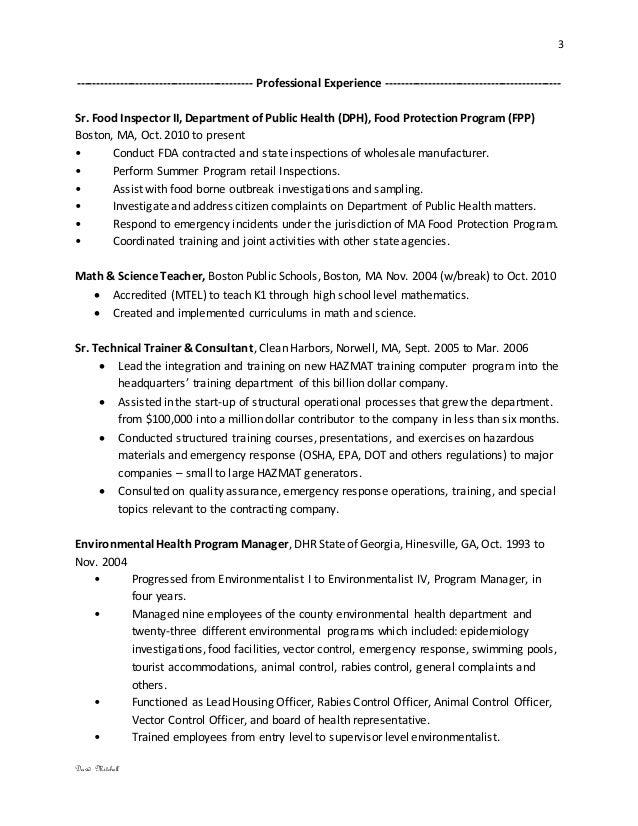 bureau director resume