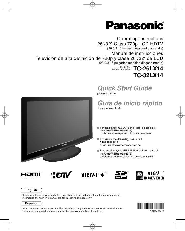 56495472 tc26 lx14 manual televisor panasonic lcd rh es slideshare net Una De Gato Una De Gato