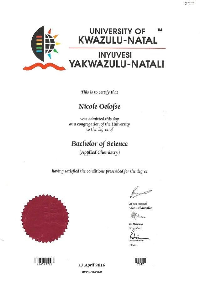 Bsc Degree Certificate