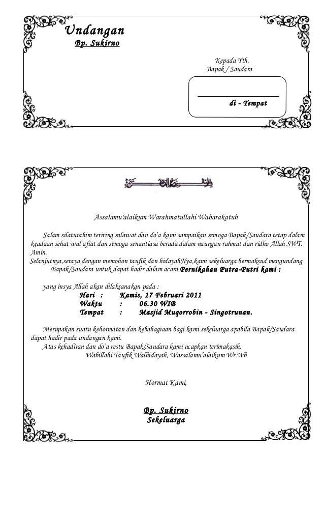 56628448 Contoh Undangan Pernikahan