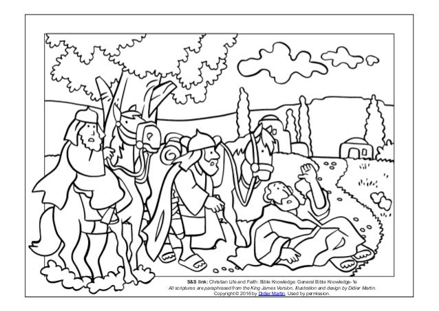 Coloring page: The acts of the apostles- The road to damascus