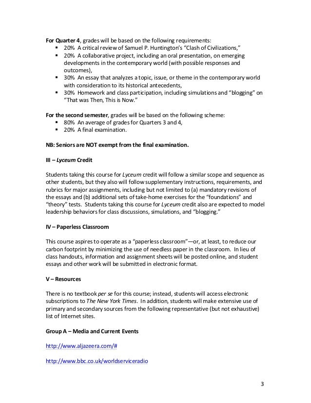 Thesis Statement Essay Example  That Was Then This Is Now  Example Of A Essay Paper also Good High School Essay Topics Cwsyllabusrev Short Essays In English