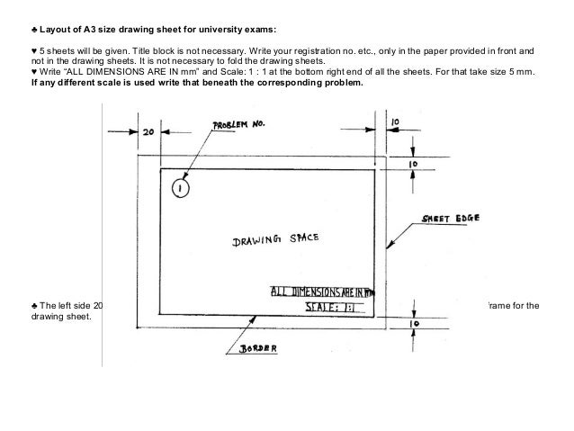 Engineering graphics basics for Architectural drawing paper sizes