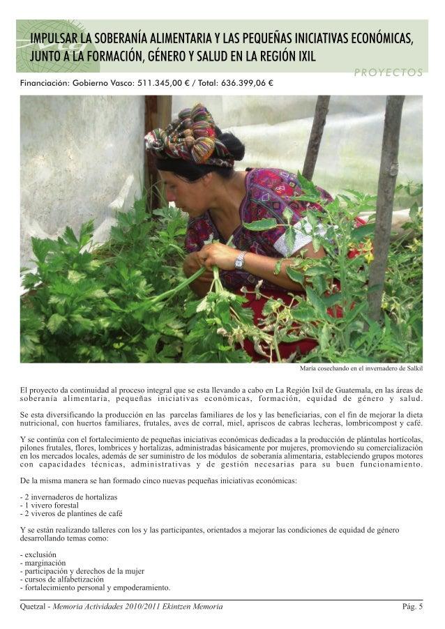 Guatemala. Región Ixil. Impulso de la soberanía alimentaria