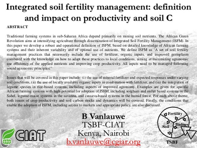 Integrated soil fertility management definition and for Meaning of soil resources