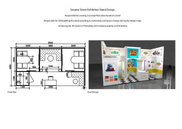 Exhibition Stand Floor Plans : Hardcopy portfolio