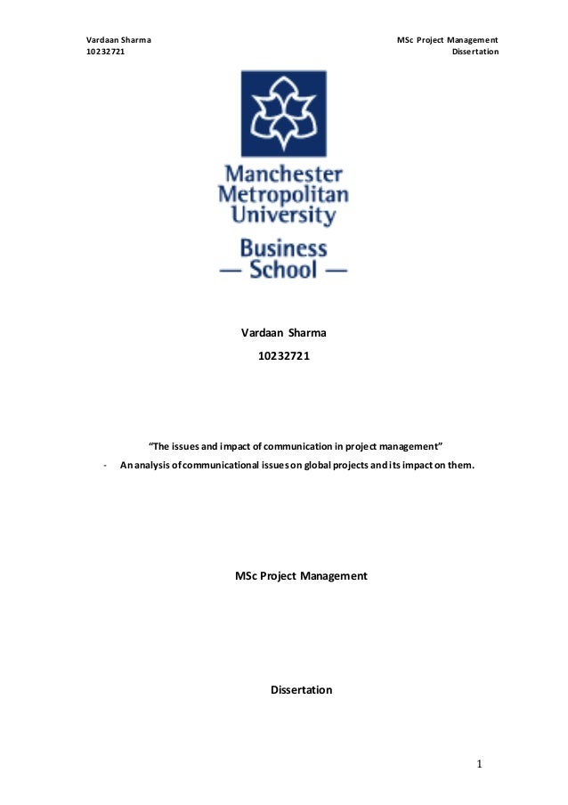 Project management dissertation
