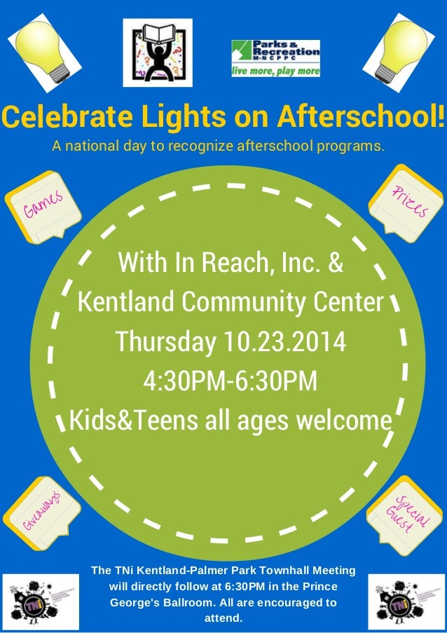 A National Day To Recognize Afterschool Programs. Celebrate Lights On  Afterschool! Games Prizes Giveaways