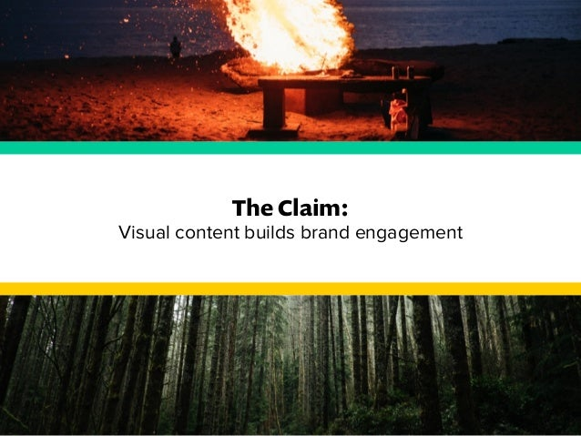 The Claim:  Visual content builds brand engagement