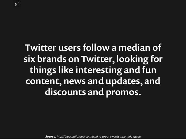 Twitter users follow a median of  six brands on Twitter, looking for  things like interesting and fun  content, news and u...