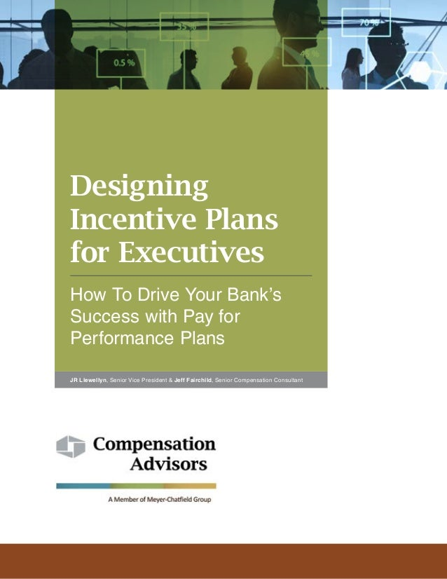 Designing Incentive Plans for Executives How To Drive Your Bank's Success with Pay for Performance Plans JR Llewellyn, Sen...