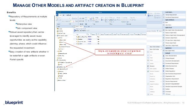 Blueprint leave behind automatic generation 15 2016 blueprint software systems malvernweather Choice Image