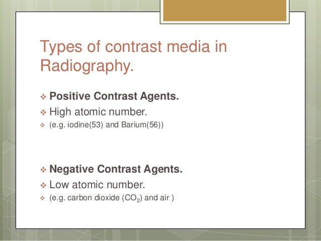 Contrast Media In Radiology