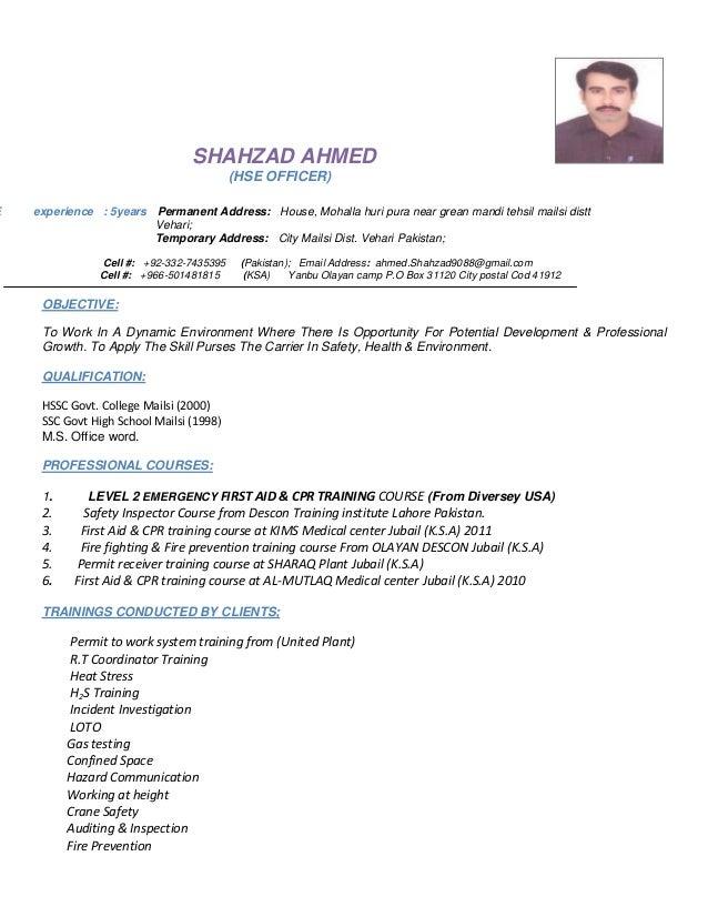 shahzad ahmed cv