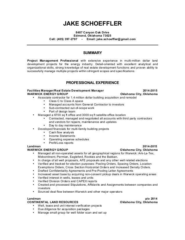 JAKE SCHOEFFLER\'s - Resume