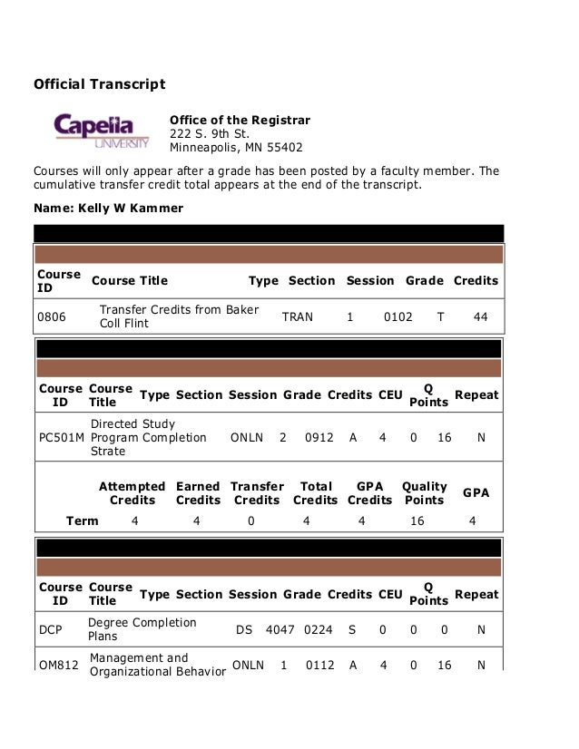 Transcript Capella PhDABD