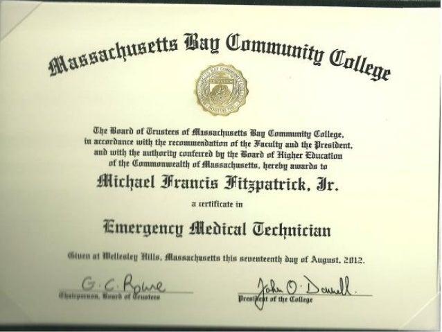 Massbay EMT Cert