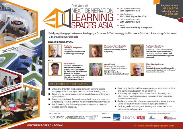 KEY TOPICS OF EXPLORATION: LEARNING NEXT GENERATION 2nd Annual SPACES ASIA  Pre-Conference Workshops:    26th Septemb...