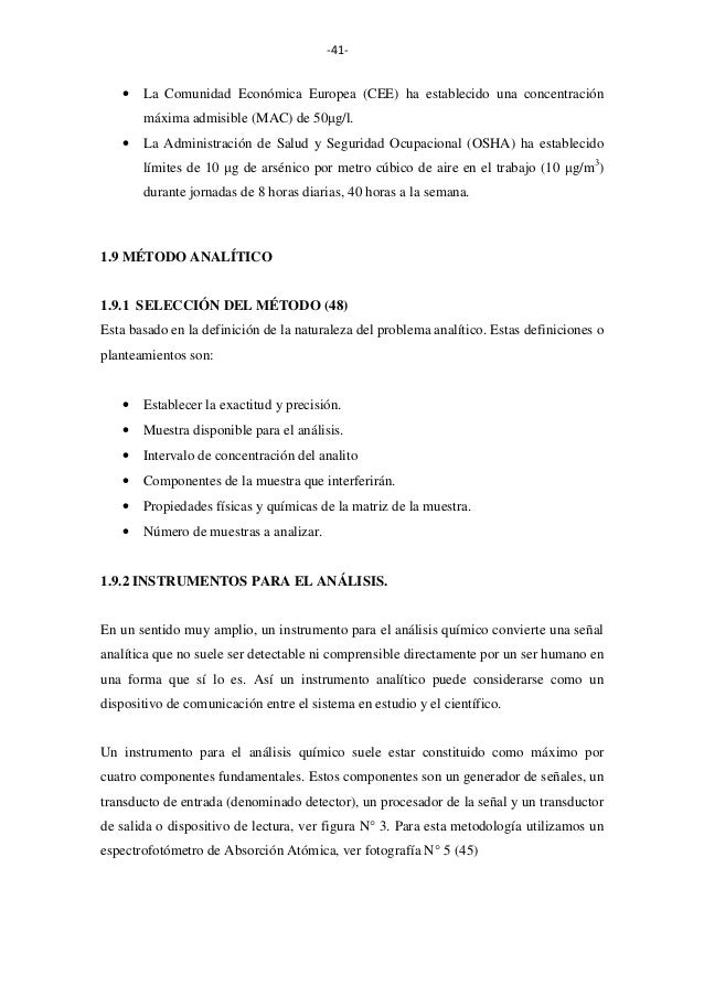 -41-  •  La Comunidad Económica Europea (CEE) ha establecido una concentración máxima admisible (MAC) de 50µg/l.  •  La Ad...