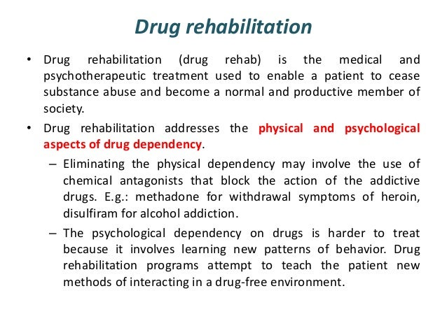 Drug rehabilitation essays