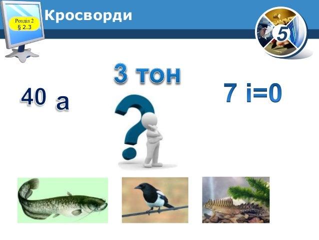 5 КросвордиРозділ 2 § 2.3
