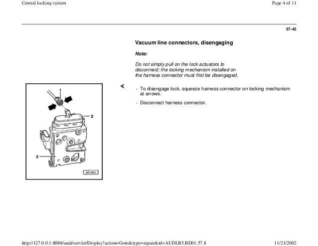 audi a4 b5 central locking wiring diagram: audi a4 b5 1 8l 1996 bady 57