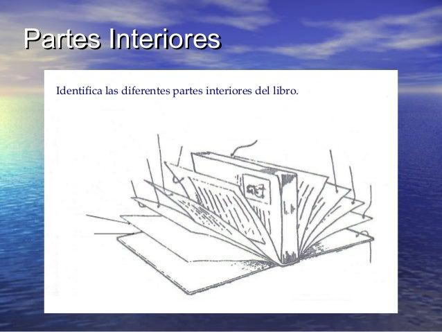 Partes InterioresPartes Interiores Identifica las diferentes partes interiores del libro.