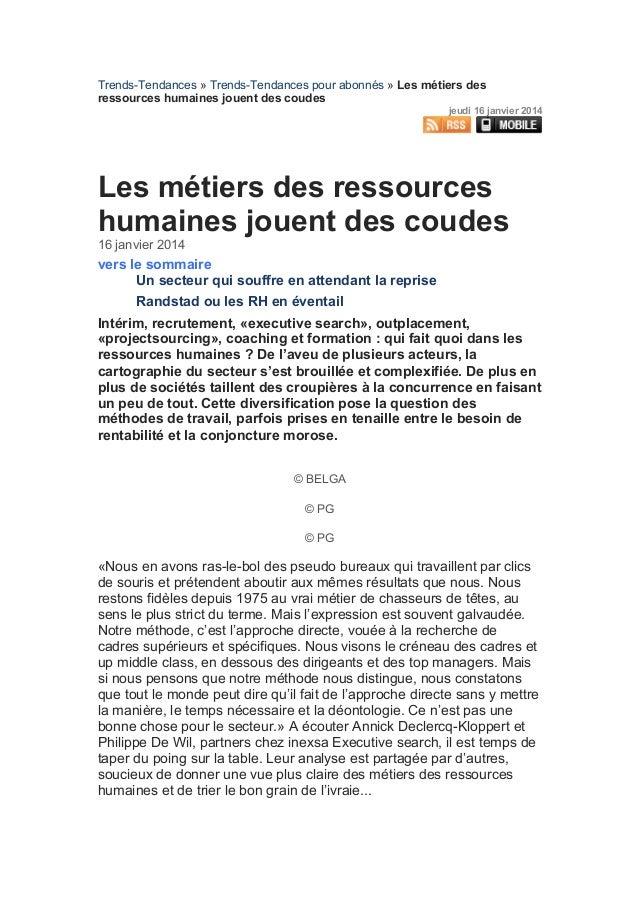 Trends-Tendances » Trends-Tendances pour abonnés » Les métiers des ressources humaines jouent des coudes jeudi 16 janvier ...