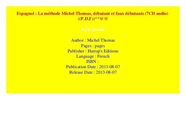 ESPAGNOL TÉLÉCHARGER MICHEL MÉTHODE DÉBUTANT THOMAS GRATUITEMENT HARRAPS