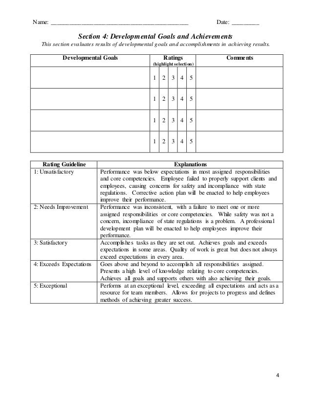 Custom Performance Appraisal Review Form – Appraisal Review Form