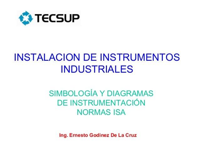 INSTALACION DE INSTRUMENTOS        INDUSTRIALES     SIMBOLOGÍA Y DIAGRAMAS       DE INSTRUMENTACIÓN            NORMAS ISA ...