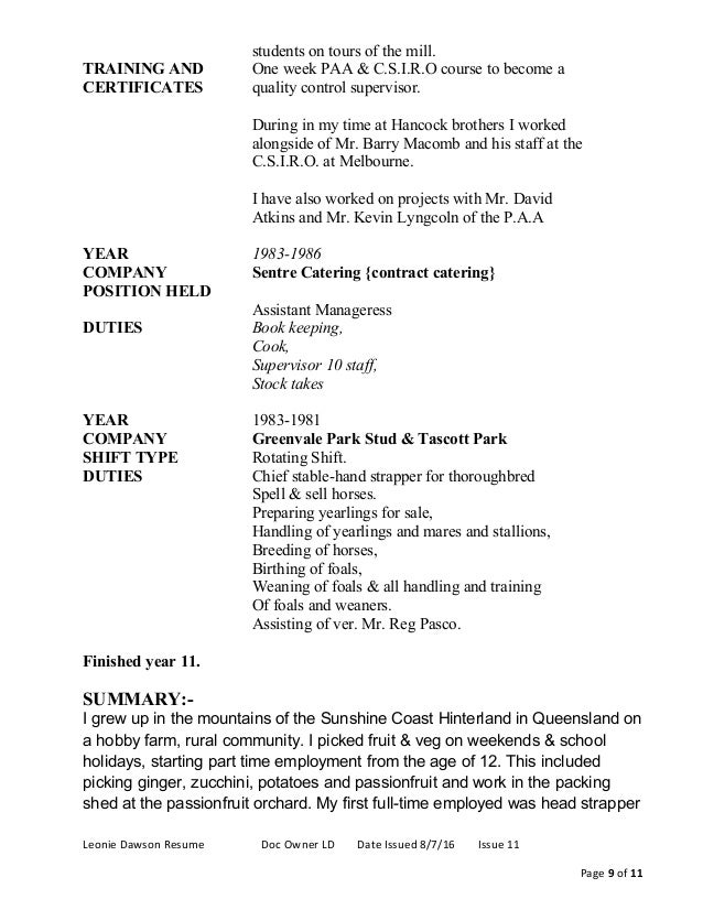 Perfect Horse Farm Hand Resume Composition - Professional Resume ...