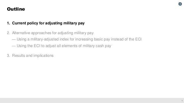 Approaches for Adjusting Military Cash Pay Slide 2