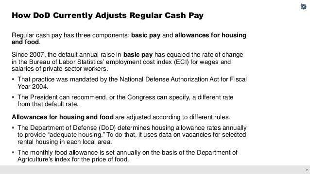 Approaches for Adjusting Military Cash Pay Slide 3