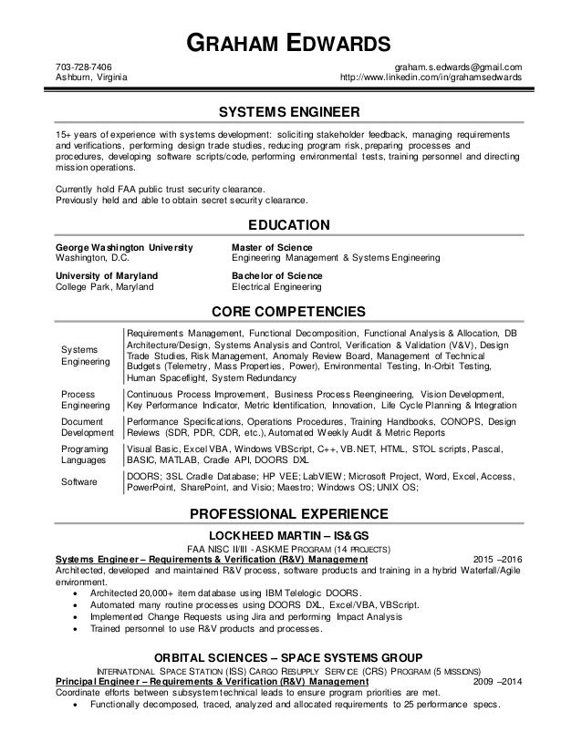 SlideShare  Systems Engineer Resume