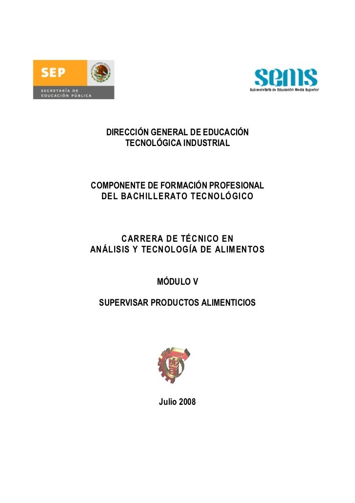 DIRECCIÓN GENERAL DE EDUCACIÓN       TECNOLÓGICA INDUSTRIALCOMPONENTE DE FORMACIÓN PROFESIONAL  DEL BACHILLERATO TECNOLÓGI...