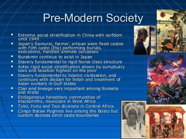 pre modern society