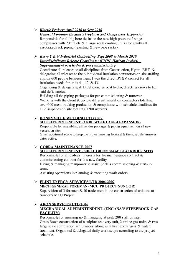 resumes for excavators   Resume Samples Construction   resumes     template
