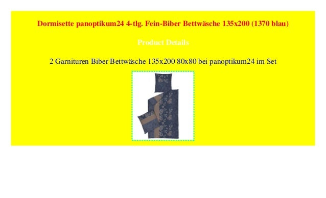 Dormisette Panoptikum24 4 Tlg Fein Biber Bettwäsche 135x200 1370 B