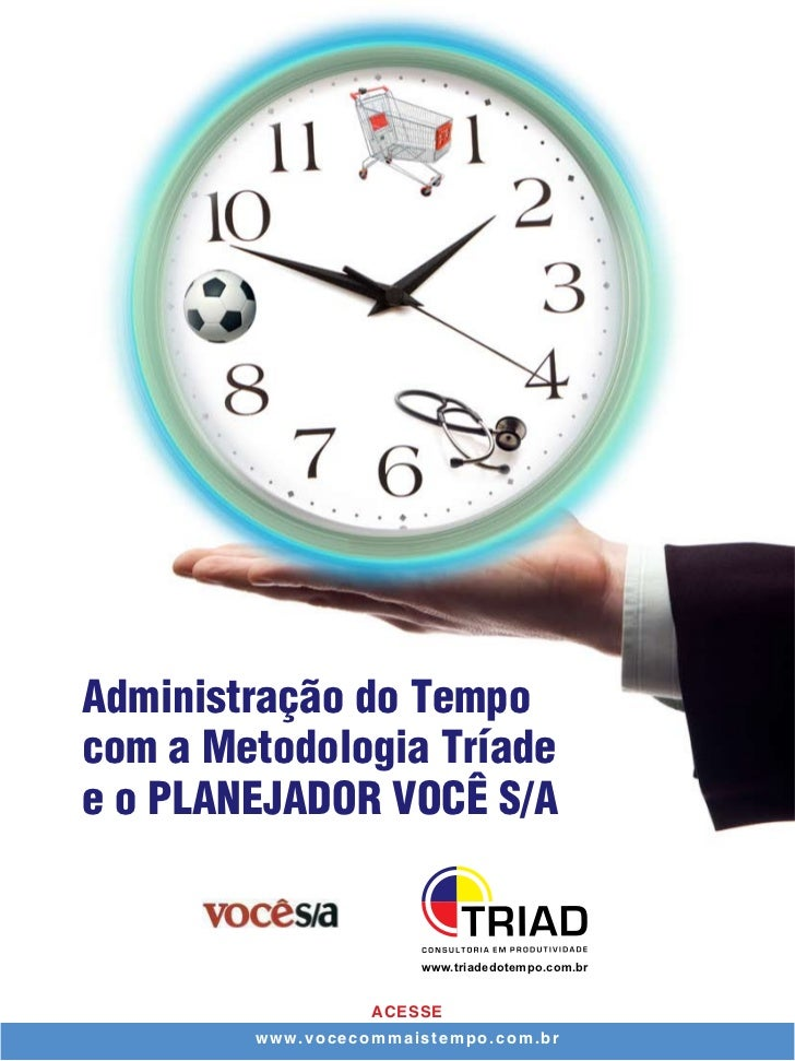 Administração do Tempocom a Metodologia Tríadee o PLANEJADOR VOCÊ S/A                      www.triadedotempo.com.br       ...