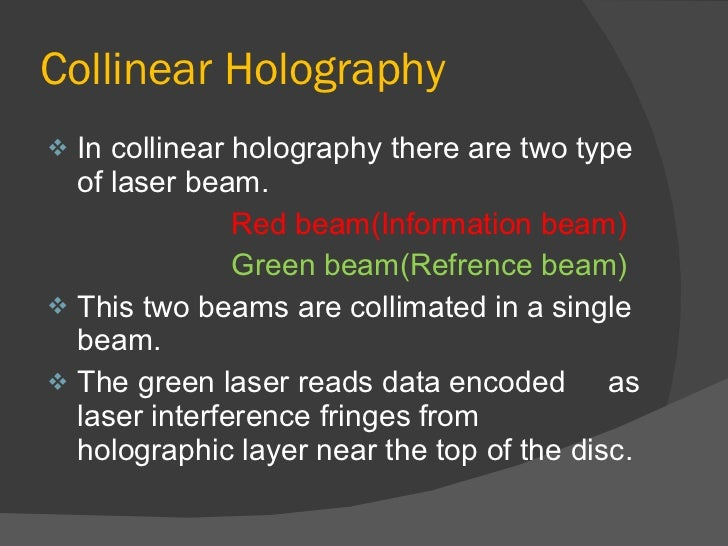 disadvantages of holographic technology What are the disadvantages of holographic data storage a holographic will is a a disadvantage of electronic data storage might include the factthat the.