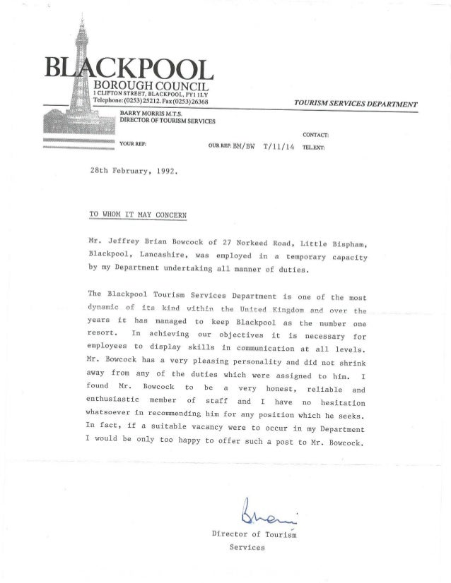 Blackpool Borough Council - Reference