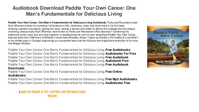 Paddle Your Own Canoe Audiobook  Free Download