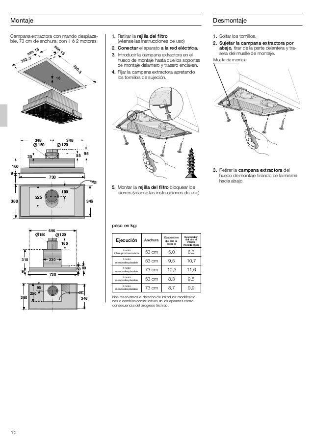 Campana balay 3bf747xp - Campana extractora medidas ...