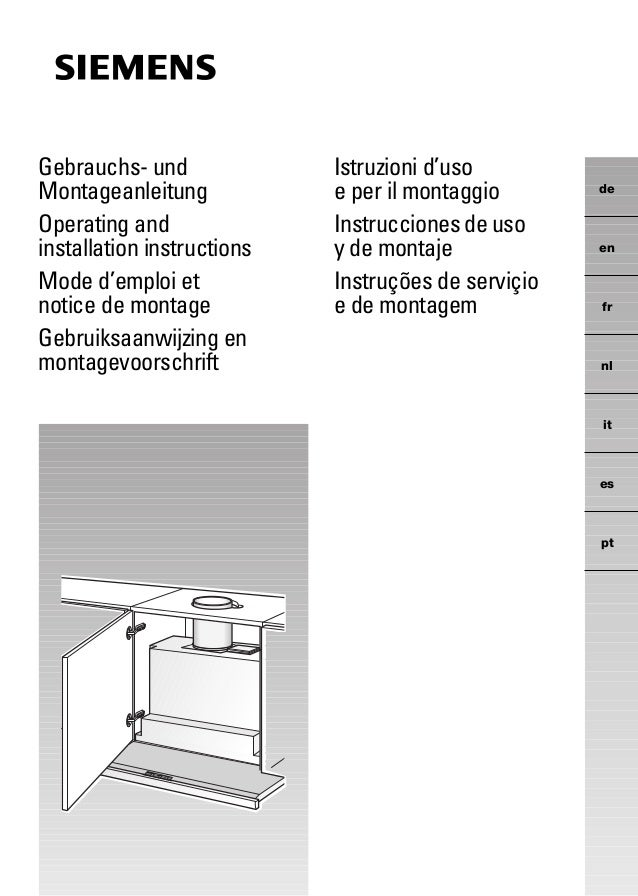 Gebrauchs- und Montageanleitung Operating and installation instructions Mode d'emploi et notice de montage Gebruiksaanwijz...