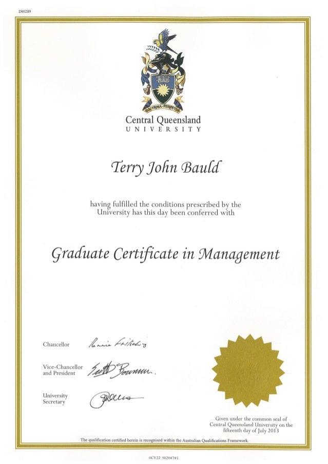 graduate certificate in management