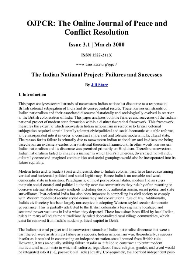 OJPCR: The Online Journal of Peace and Conflict Resolution Issue 3.1 | March 2000 ISSN 1522-211X www.trinstitute.org/ojpcr...