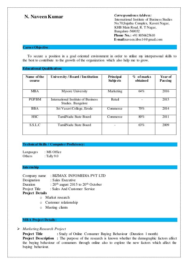 N. Naveen Kumar Correspondence Address: International Institute of Business Studies No.70,Sujatha Complex, Kaveri Nagar, K...