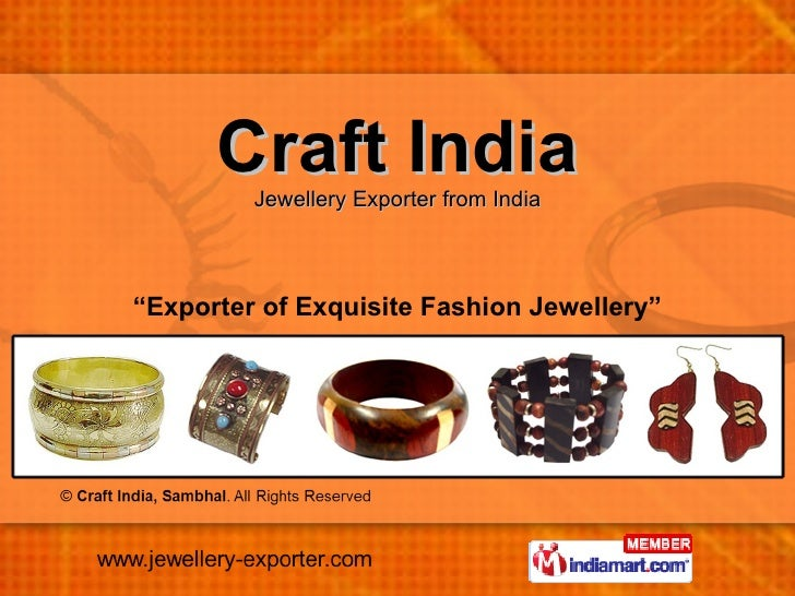 """Craft India Jewellery Exporter from India """" Exporter of Exquisite Fashion Jewellery"""""""